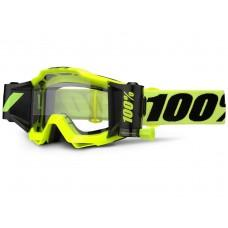 Мото очки 100% ACCURI FORECAST Goggle Fluo Yellow - Clear Lens