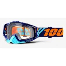 Мото очки Ride 100% RACECRAFT Goggle Calculus Navy - Clear Lens, Clear Lens