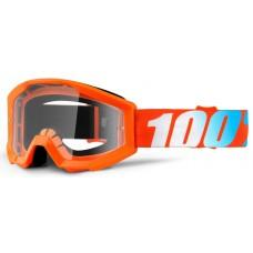 Детские мото очки 100% STRATA JR Goggle Orange - Clear Lens