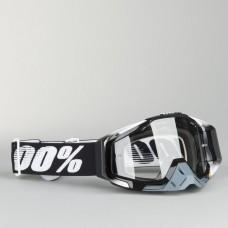 Мото очки 100% RACECRAFT Goggle Abyss Black - Clear Lens