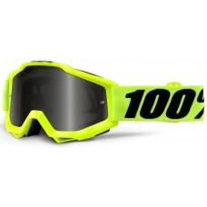 Мото очки 100% ACCURI SAND Goggle Fluo yellow - Grey Smoke Lens