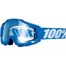 Мото очки Ride 100%  ACCURI OTG Goggle Reflex Blue - Clear Lens, OTG