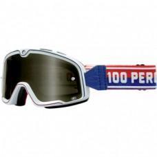Мото очки Ride 100% BARSTOW CLASSIC Goggle White - Smoke Lens, Mirror Lens