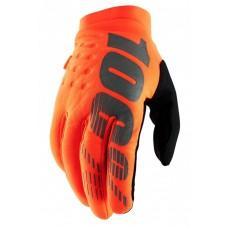 Зимние мото перчатки Ride 100% BRISKER Cold Weather [Fluo Orange/Black], L (10)