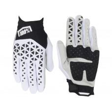 Мото перчатки Ride 100% AIRMATIC Glove [Black/White/Silver], L (10)