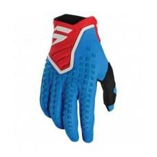 Мото перчатки SHIFT 3LACK PRO GLOVE [BLUE RED]