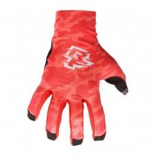 Вело перчатки RACE FACE AMBUSH CAMO GLOVES red S