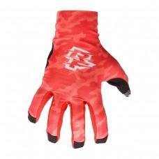 Вело перчатки RACE FACE AMBUSH CAMO GLOVES red S