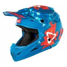 Мотошлем LEATT Helmet GPX 4.5 V22 ECE Blue/Red, XL