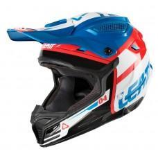 Мотошлем LEATT Helmet GPX 4.5 V25 ECE Blue/White, S