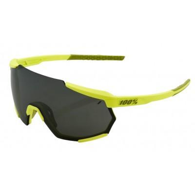 Велосипедные очки Ride 100% RACETRAP - Soft Tact Banana - Black Mirror Lens, Mirror Lens