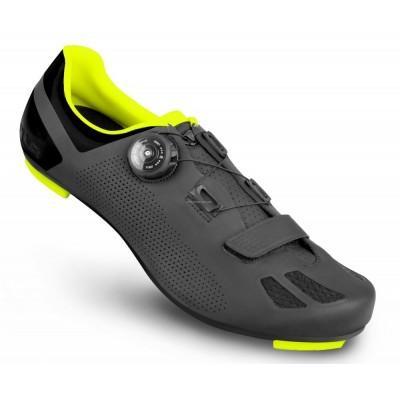 Велосипедные туфли шоссе FLR F-11 черный / неоновый желтый