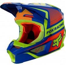 Детский мотошлем FOX YTH V1 MIPS OKTIV HELMET [Blue], YS