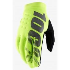 Детские зимние мото перчатки Ride 100% BRISKER Cold Weather [Fluo Yellow], YL (7)
