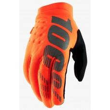 Детские зимние мото перчатки Ride 100% BRISKER Cold Weather [Fluo Orange], YS (5)