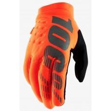 Детские зимние мото перчатки Ride 100% BRISKER Cold Weather [Fluo Orange], YL (7)