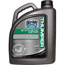 Масло моторное Bel Ray WORKS THUMPER RACING SYNTHETIC ESTER 4T [4л], 10w-50