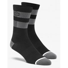 Вело носки Ride 100% FLOW Performance Socks [Black/Grey], S/M