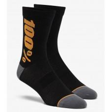 Вело носки Ride 100% RYTHYM Merino Wool Performance Socks [Bronze], L/XL