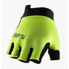 Вело перчатки Ride 100% EXCEEDA Gel Short Finger Glove [Fluo Yellow], M (9)