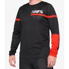 Вело джерси Ride 100% R-CORE Jersey [Black Red], M