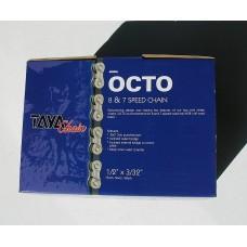 Велосипедная цепь TAYA OCTO Silver/Black 7/8sp [30м]