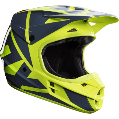 Шлем FOX V1 Race Helmet желтый