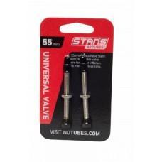 Бескамерный ниппель Stan's Notubes FV 55мм (2шт на блистере) серебристые
