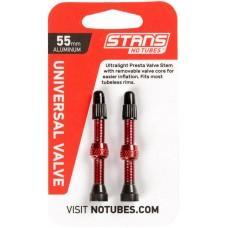 Бескамерный ниппель Stan's Notubes FV 55мм (2шт на блистере) красные