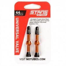 Бескамерный ниппель Stan's Notubes FV 44мм (2шт на блистере) оранжевые